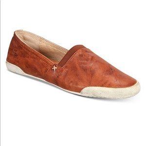 New Condition Frye Melanie Cognac Leather Slip On